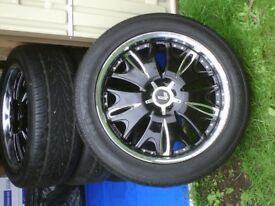 Lenso Grande 9 Alloy Wheels and Tyres - Set of 4