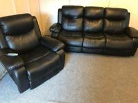 Luxurious back 3 & 1 faux leather sofas Suite / armchair is a massage electric recliner sofa