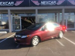 2012 Honda Civic LX 5 SPEED A/C CRUISE CONTROL 110K