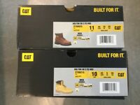 Caterpillar Steel Toe Cap Boots. UK 10 and UK 9 Brand New in Box