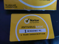 Norton Anti Virus Subscription (1 year) - Card with online code £8.00