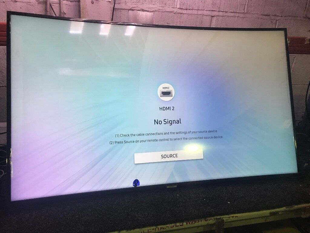 55'' CURVED SAMSUNG SMART 4K ULTRA HDR LED TV UE55NU7300 FREEVIEW HD  MINOR  CRACK ON BOTTOM SCREEN | in Acton, London | Gumtree