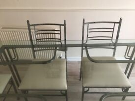 Wrought Iron Table & 6 Chairs