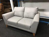 New/Ex Display Dfs Grey Fabric Sofa