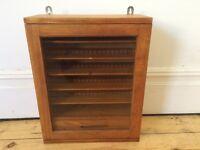 Vintage Small Industrial Engineers Cabinet / Display / School Cabinet