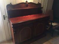 Victorian chiffonier sideboard mahogany