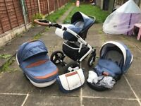 BABY PRAM PUSHCHAIR TRAVEL SYSTEM 3in1 Florino Classic by Coletto