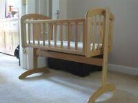John Lewis Swinging Crib - Excellent condition!