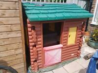 Little tykes wooden log cabin