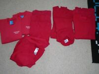 10x red school jumpers, 9-10, 10-11