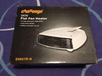 Challenge 3KW Flat Electric Fan Heater in White