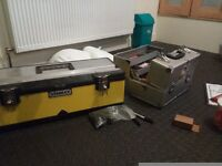 Tattoo equipment, full setup. In 2 large toolboxes