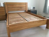 Sonoma Solid Oak Double Bed Frame - excellent condition
