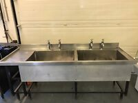 Commercial catering double Stainles steel sink