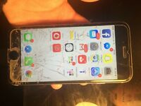 iPhone 6 smashed screen, works perfectly
