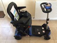 Solax electric folding boot scooter as new .