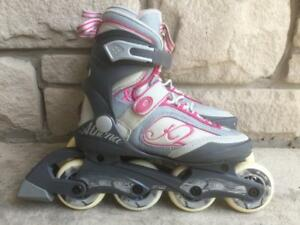 Like NEW K2 Athena Inline Skates (Rollerblades) 78mm/80A ABEC-5 Womens Size 6
