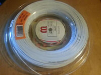 New Wilson Rip spin 15/1.35mm / 660ft (200m) White Tennis String Reel- RRP: £140