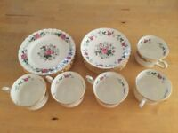 Royal Stafford Bone China cups, saucers and side plates