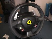 Ferrari 458 Italia Racing Wheel and Stand - XBOX 360 model
