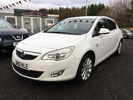 2012 Vauxhall Astra 1.6 Elite, 21,000 miles, 12 Months warranty Finance available
