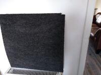 Graphite carpet tiles