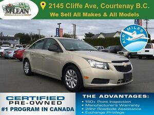 2011 Chevrolet Cruze LS Automatic 5-Star Safety