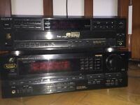 Sansui Receiver + Sony 5 Disc Player + 2 Definitive Technology Speakers Model BP-10
