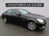 MERCEDES-BENZ C CLASS 1.8 C180 BLUEEFFICIENCY SE 4d AUTO 155 BHP (black) 2012