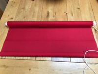 Red Curtain Blind