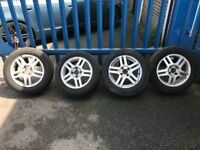 """**4 x 15"""" Ford Fusion Alloy Wheels With Good Tyres - 4x108 - Focus Fiesta **"""