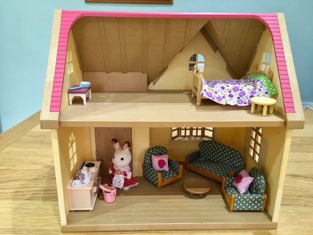 Sylvanian Families Rose Cottage Furnished