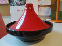 Tagine dish, red and black ceramic,never been used, from Food Nation brand, perfect for student flat