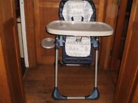 Chicco Folding Highchair (converts to low chair)