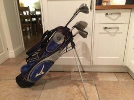 Golf clubs- Mizuno Driver, 3 Wood & 5 Wood, Mizuno MX-15 Irons (3-SW) Mizuno Golf Bag plus more