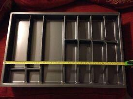 Large kitchen drawer cutlery organiser - by Wren Kitchens
