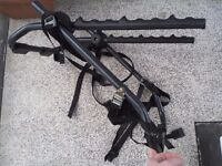 CAR BICYCLE RACK,TWO BIKES ?,MINOR USE,COMPLETE,LIGHT WEIGHT,FOLDS FLAT