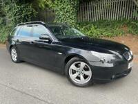BMW 520D 2007 ESTATE AUTOMATIC 2.0 DIESEL BLACK LOW MILES 84K
