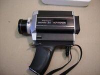 Sanyo super 8 movie camera and bag