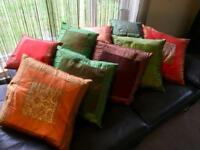 Joblot - 9 x Beautiful Moroccan / Indian Style Cushions - Home Sofa Decoration Chair Camper Van Soft
