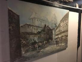 Pallet knife oil on canvas