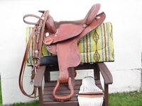 trekkers barrel saddle flexi-tree ,cinch,bridle,pad