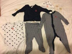 Jasper Conran Junior J outfit set size 3 – 6 months (three to six bundle)
