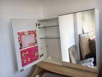 mirrored bathroom cabinet from Ikea
