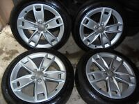 17inch genuine ats audii a3 s line alloys wheels seat leon vw caddy t4 5x112 golf mk5 6 gt bbs