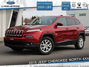 2015 Jeep Cherokee NORTH**4WD*BLUETOOTH*CAMERA*GR. ÉLECTRIQUE**