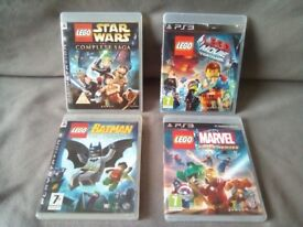 ps3 games x 4 Lego