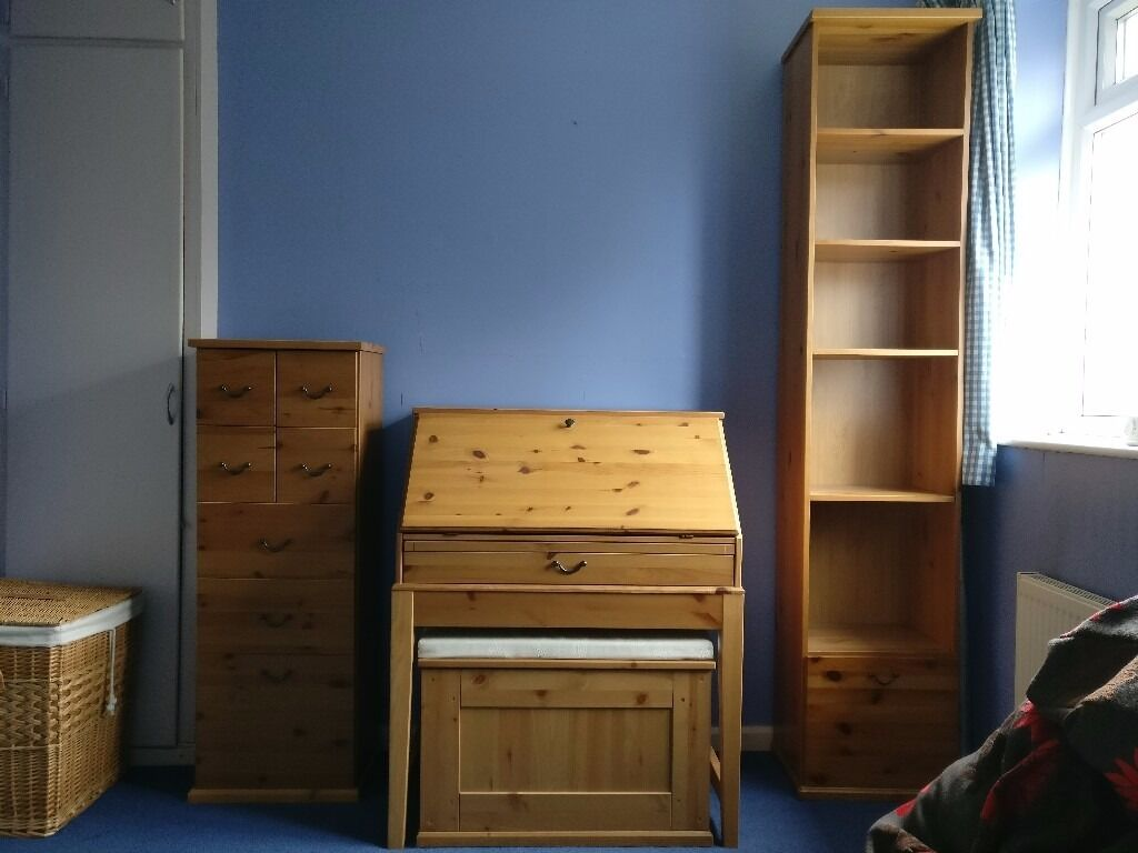 Ikea alve bureau filing bench bookshelf and drawer unit in derby