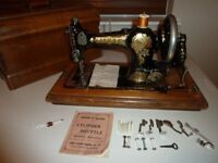 Jones Vintage Hand Crank Sewing Machine