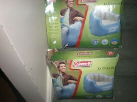 U chairs Inflatable New x 2
